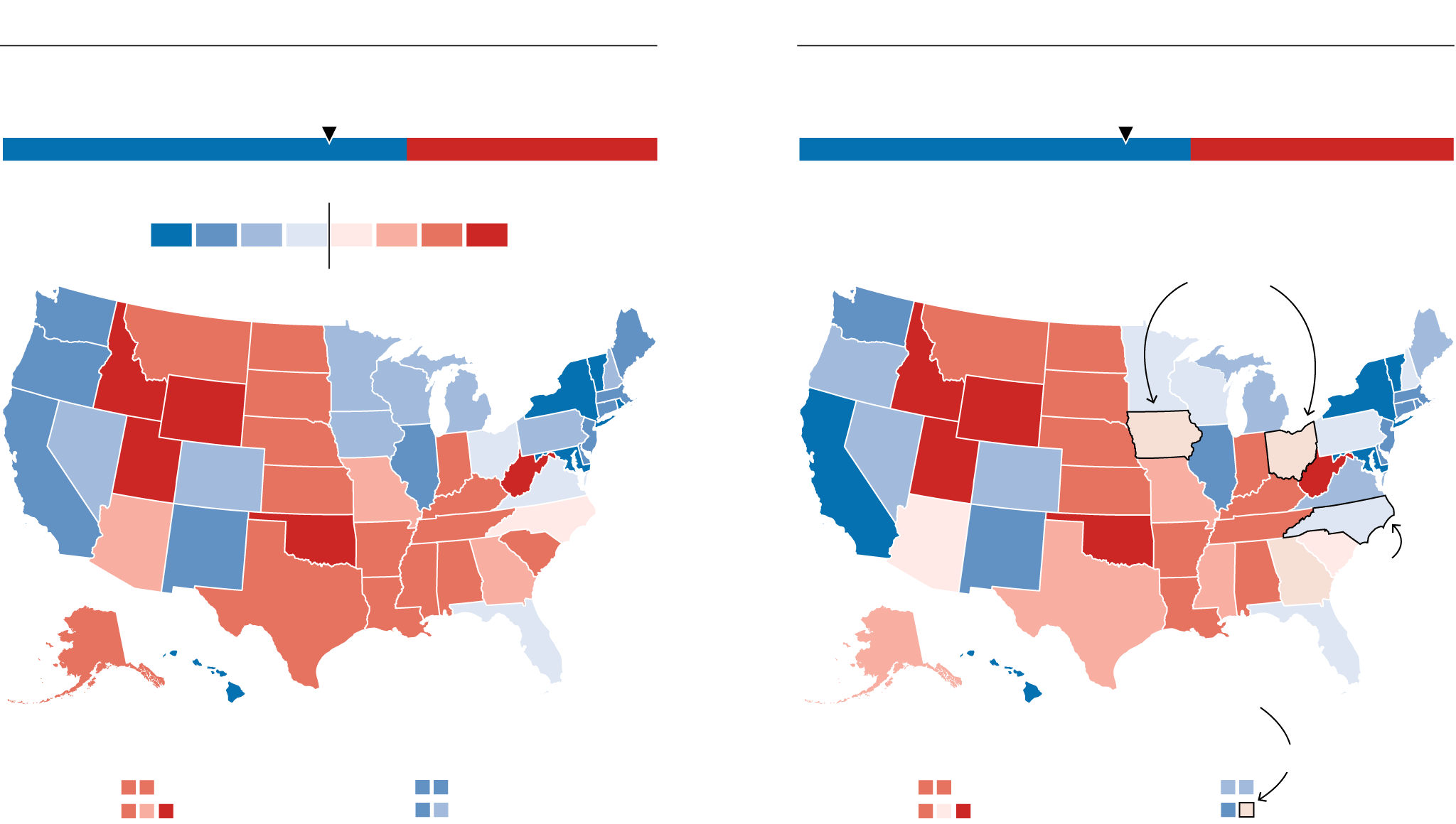 Trump Won States Map.Where Do Clinton And Trump Have The Most Upside Fivethirtyeight