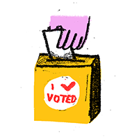In person voting illustration